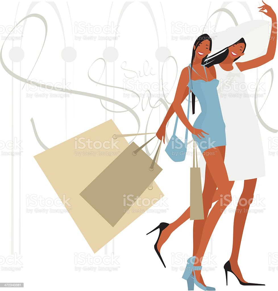 Shopping _Moment of pleasure royalty-free stock vector art