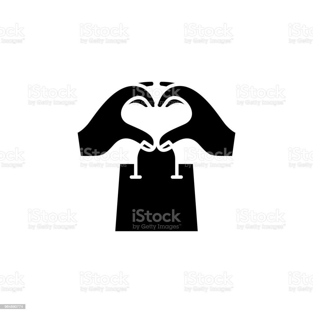 Shopping addiction black icon concept. Shopping addiction flat  vector symbol, sign, illustration. royalty-free shopping addiction black icon concept shopping addiction flat vector symbol sign illustration stock vector art & more images of no people