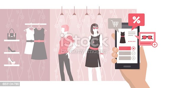 istock Shopping and augmented reality 653134790