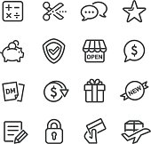 Shopping and Buying Icons - Line Series