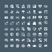 Shopping and buying icons, vector illustration.