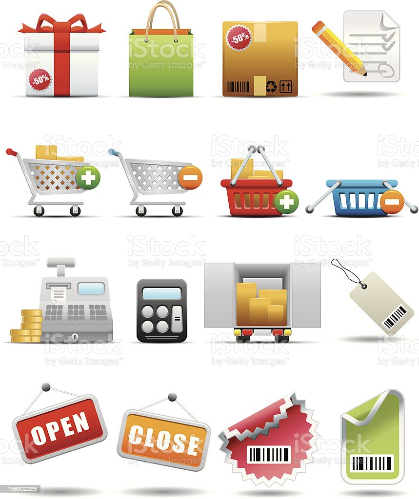 Shopping and Consumerism Icon Set -- Premium Series  Bag stock vector