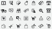 istock Shopping and E-commerce Concept Icons 1311412082