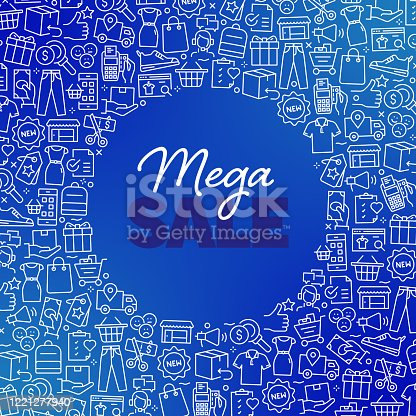 MEGA SALE - Shopping and Retail Concept Vector Pattern and Abstract Background.