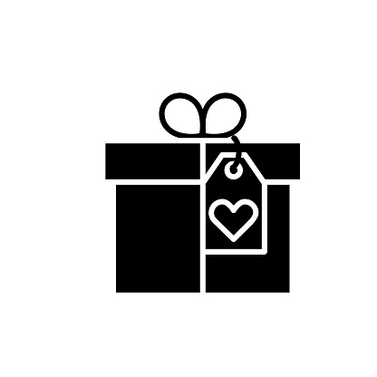 Shopping And Retail Flat Design icon - Gift Box