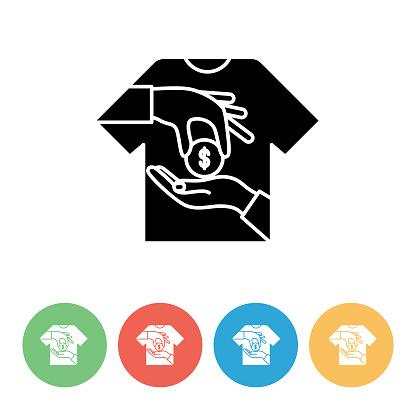 Shopping And Retail Flat Icon Set