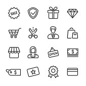 Shopping and Retail Icon - Line Series