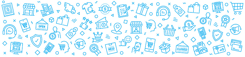 Shopping and Retail Related Pattern Design