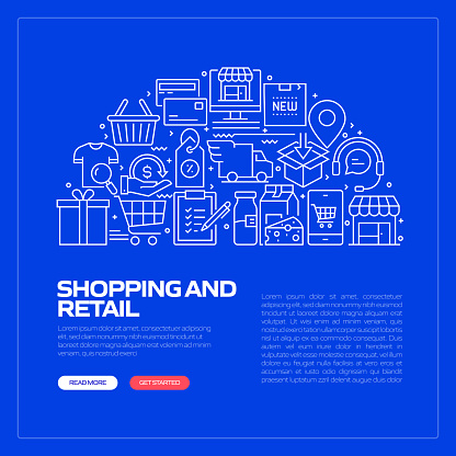 Shopping and Retail Related Pattern Design Web Banner