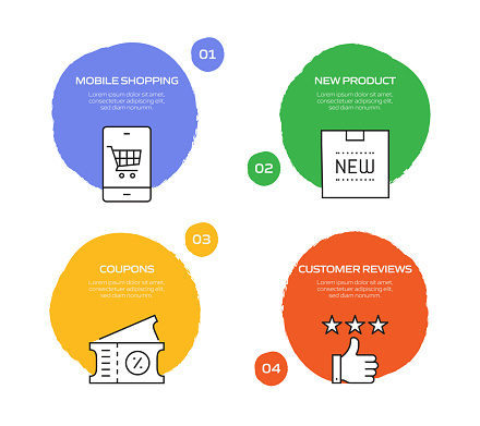 Shopping and Retail Related Process Infographic Template. Process Timeline Chart. Workflow Layout with Linear Icons