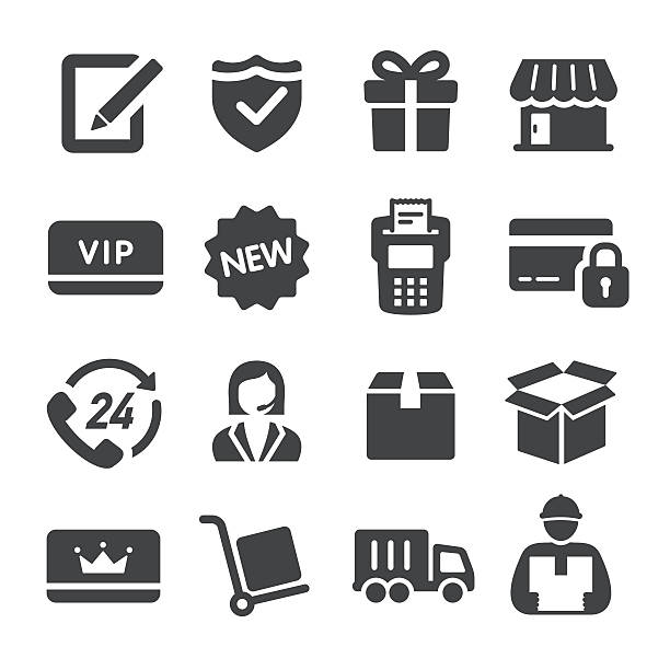 Shopping and Shipping Icons - Acme Series View All: cardboard box stock illustrations