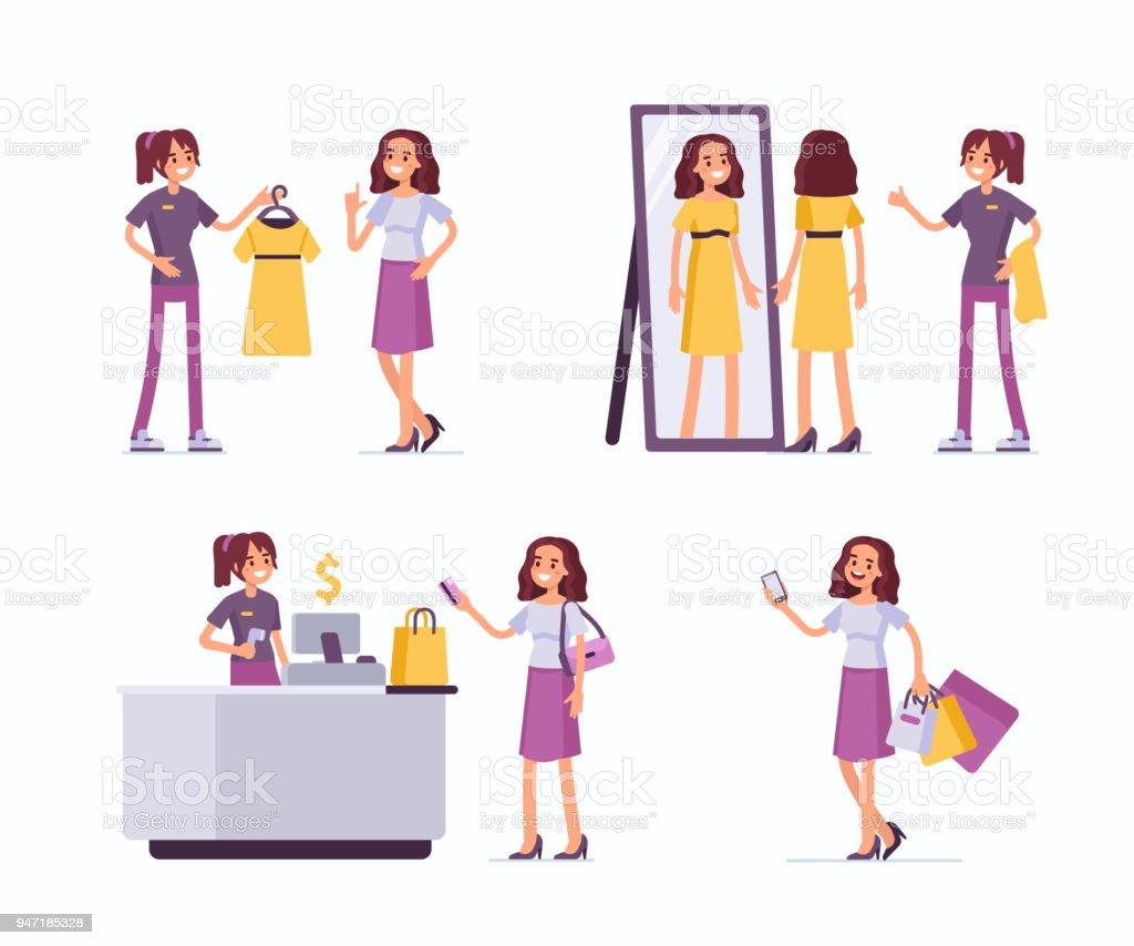 assistance commerciale - Illustration vectorielle