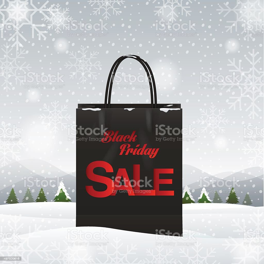 shopping bag, Black friday vector art illustration