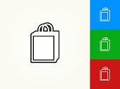 Shopping Bag Black Stroke Linear Icon