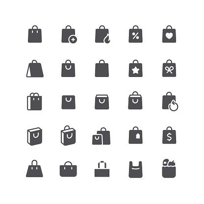 Shopping Bag Flat Icons