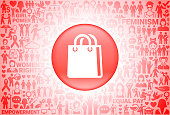 Shopping Bag  Girl Power Women's Rights Background