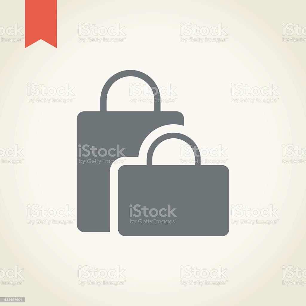 Shopping bag icon royalty-free shopping bag icon stock vector art & more images of bag