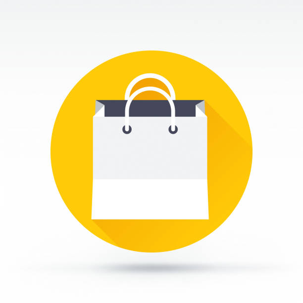shopping bag icon - torba na zakupy stock illustrations