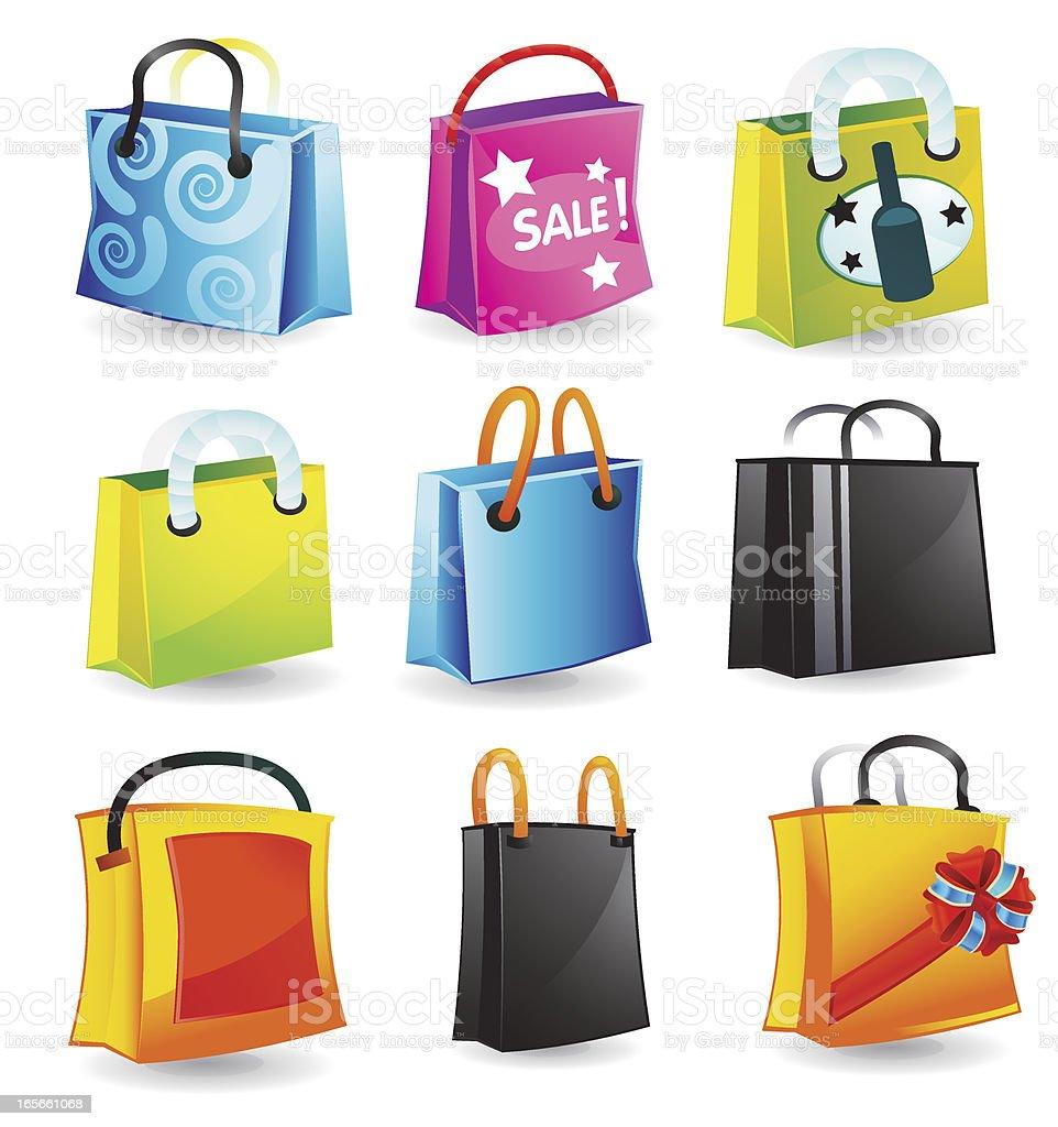 Shopping Bag Illustrations royalty-free stock vector art