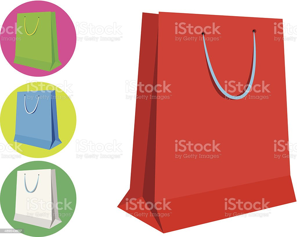Shopping Bag Illustrations vector art illustration