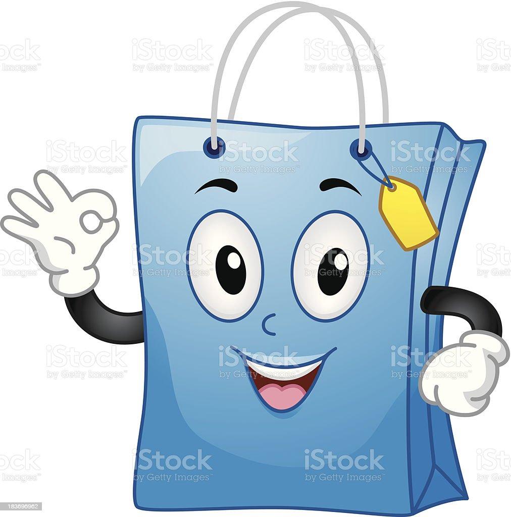 Shopping Bag Mascot royalty-free stock vector art