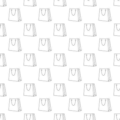 Shopping bag pattern seamless