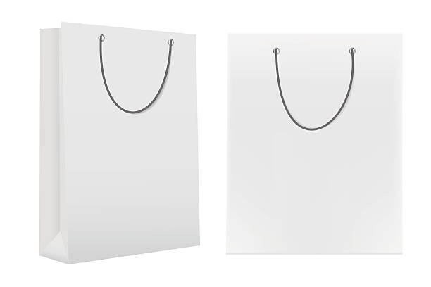Royalty Free 3d Blank Paper Bag Template Clip Art, Vector Images ...