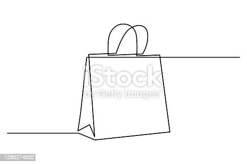 istock Shopping bag 1285274532