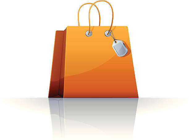 Royalty free gift bag clip art vector images
