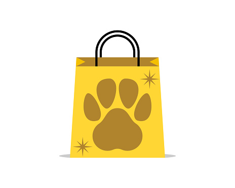 Shopping bag with paw inside