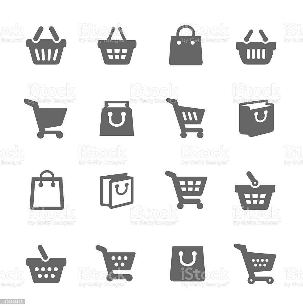 Shopping Bags and Carts - Royalty-free Arrow Symbol stock vector