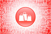 Shopping Bags  Girl Power Women's Rights Background