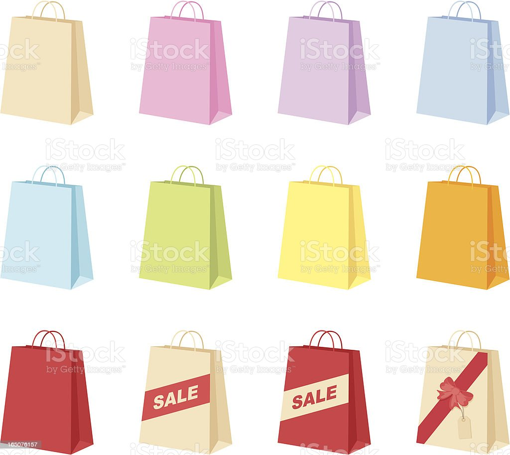 Shopping Bags - incl. jpeg royalty-free stock vector art