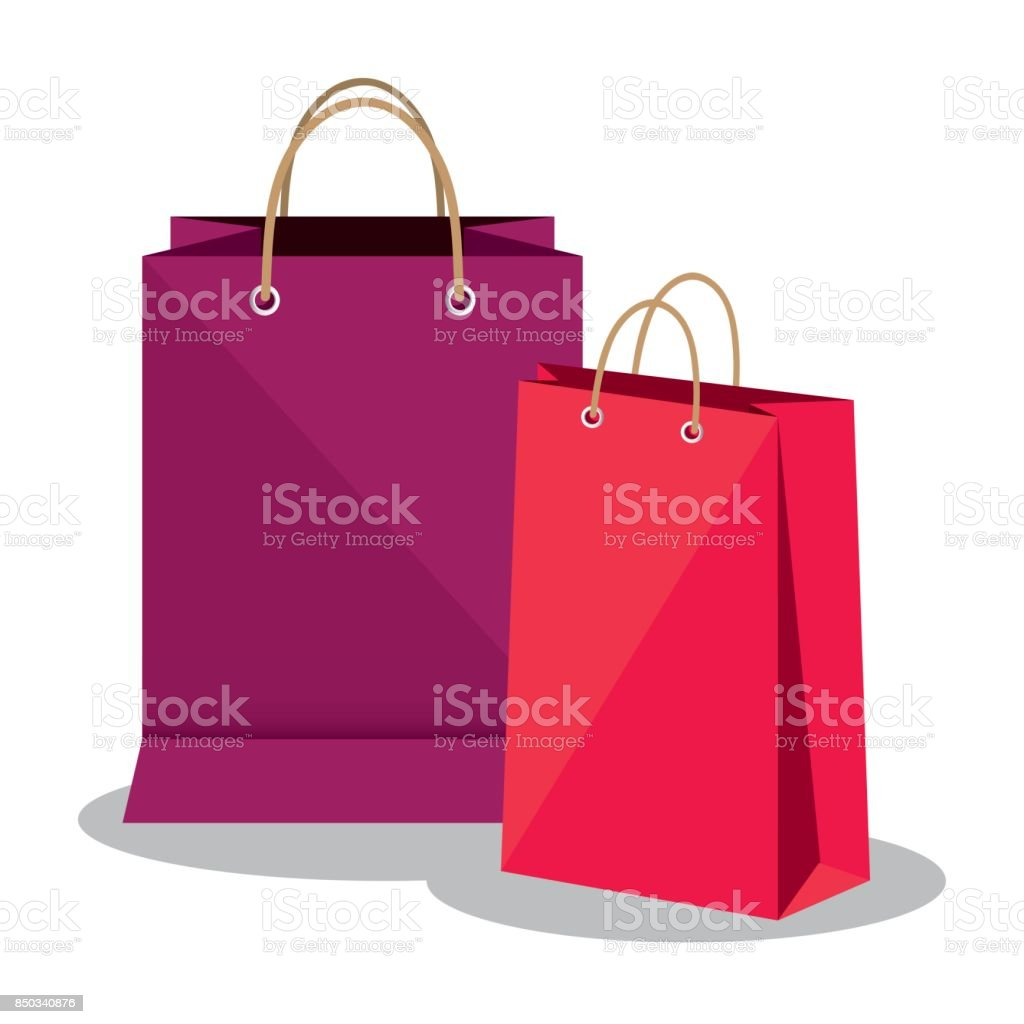 shopping bags market isolated icon vector art illustration