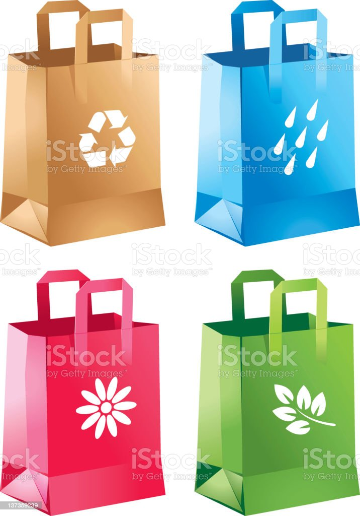 Shopping bags royalty-free shopping bags stock vector art & more images of business