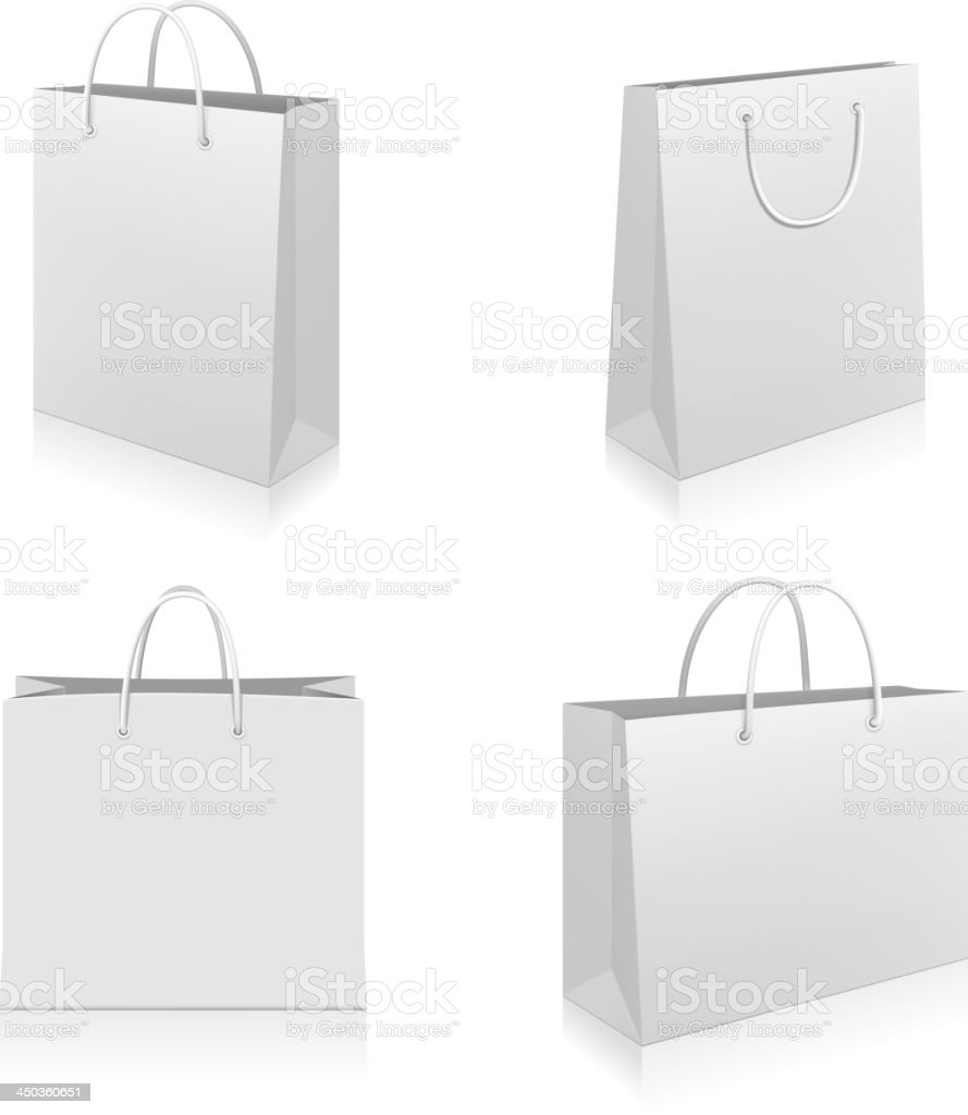 Shopping Bags vector art illustration