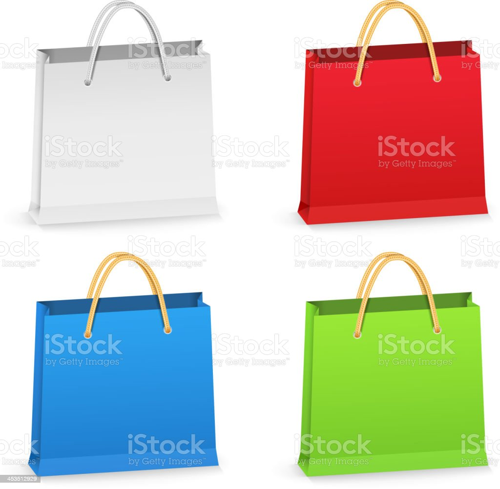 Shopping Bags royalty-free stock vector art