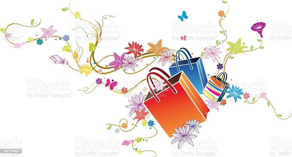 shopping bags royalty-free shopping bags stock vector art & more images of backgrounds
