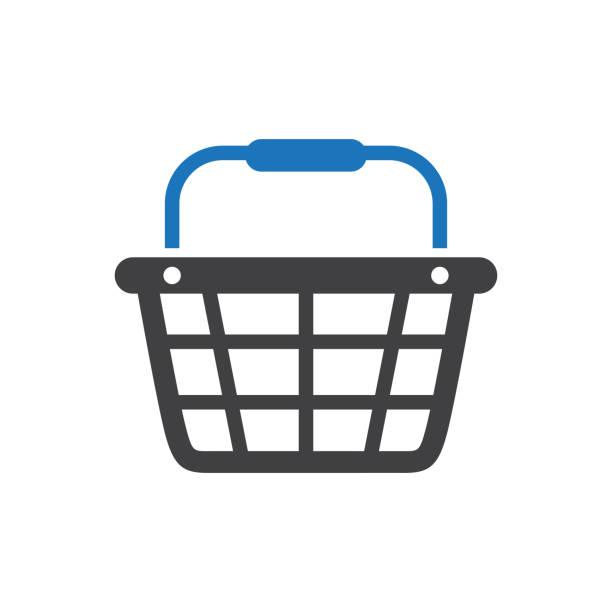 Shopping Basket Icon Ecommerce - Shopping Basket Icon shopping basket stock illustrations