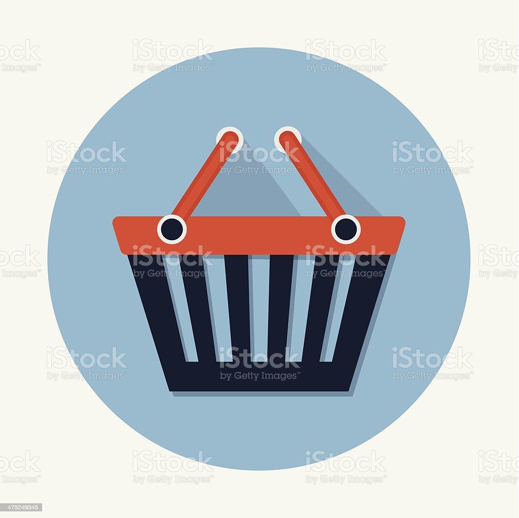 Shopping Basket Icon royalty-free stock vector art