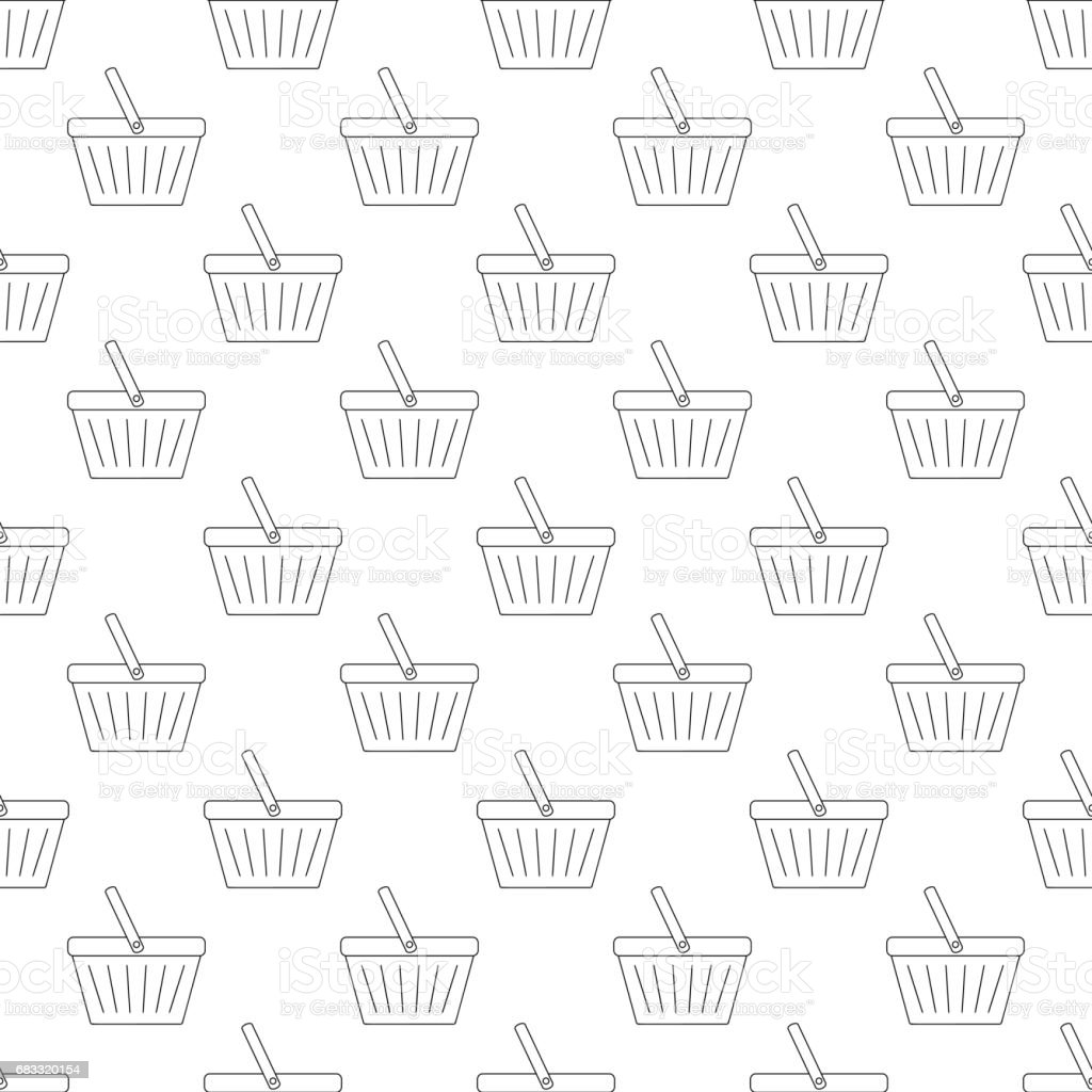 Shopping basket pattern seamless royalty-free shopping basket pattern seamless stock vector art & more images of backgrounds