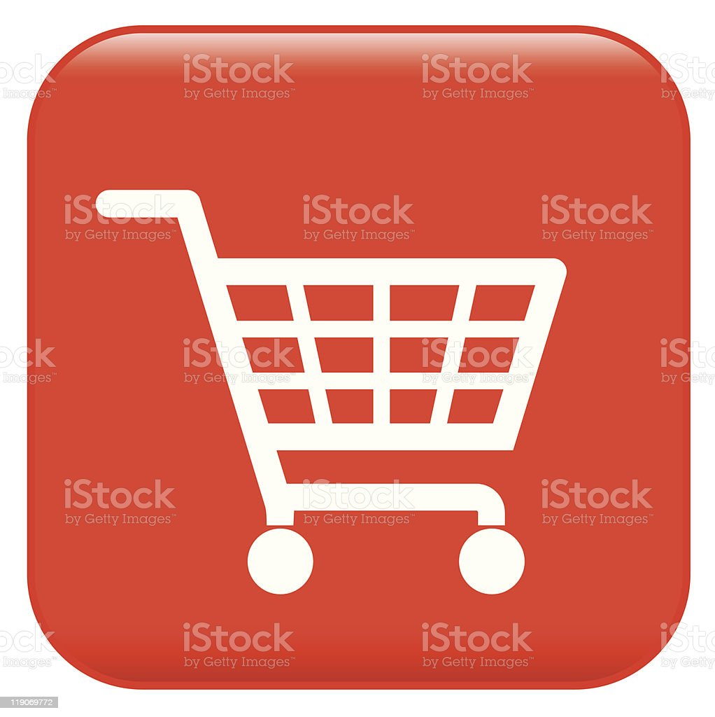 shopping basket sign royalty-free stock vector art