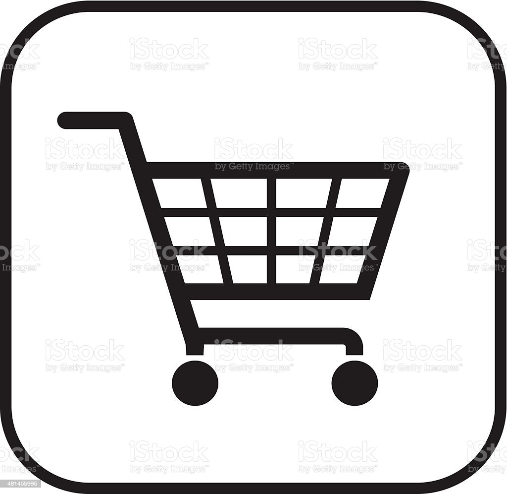 shopping basket-sign vector art illustration