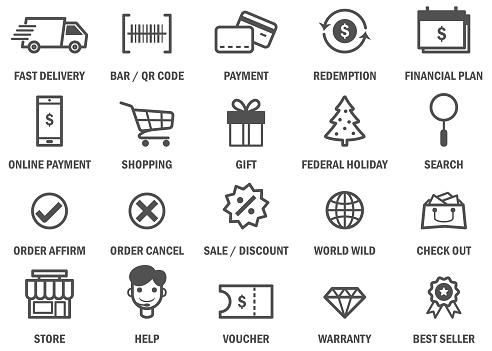 Shopping - Black Friday Icons