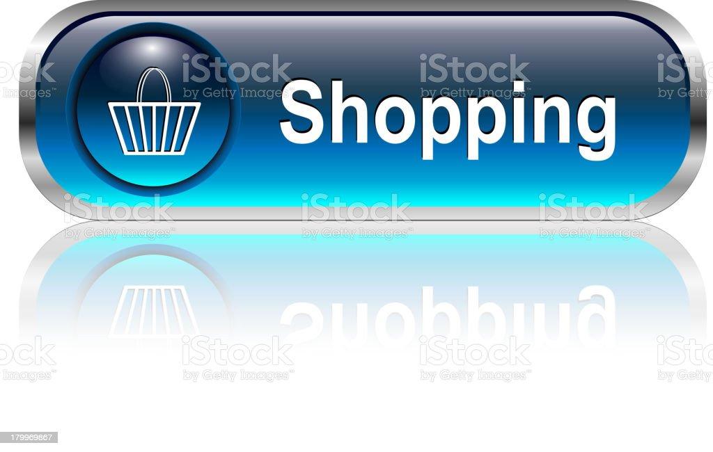 Shopping Button royalty-free stock vector art