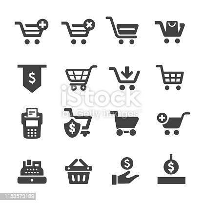Shopping Cart, Cashier,