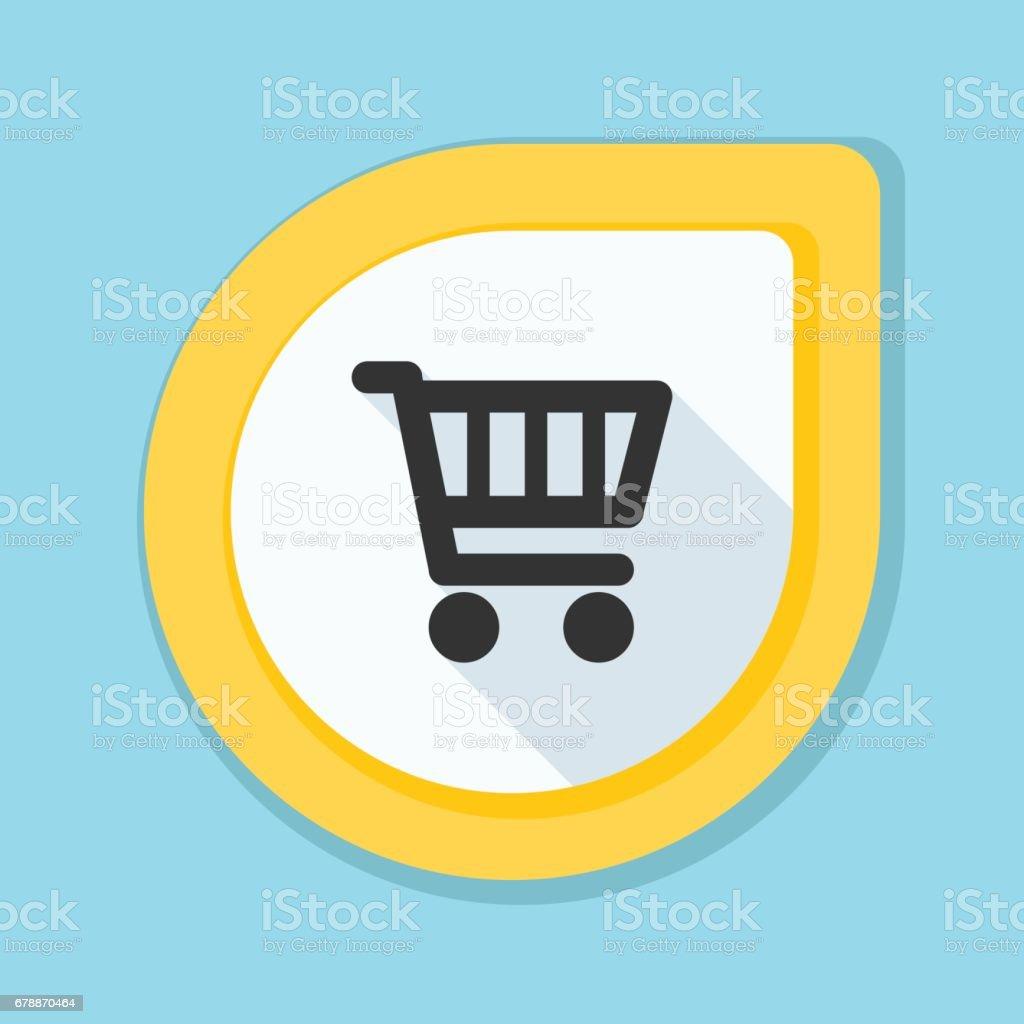Shopping panier bouton illustration shopping panier bouton illustration – cliparts vectoriels et plus d'images de acheter libre de droits