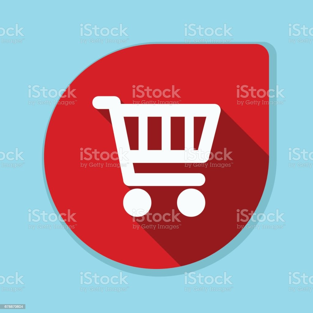 Shopping panier bouton illustration shopping panier bouton illustration – cliparts vectoriels et plus d'images de affaires libre de droits