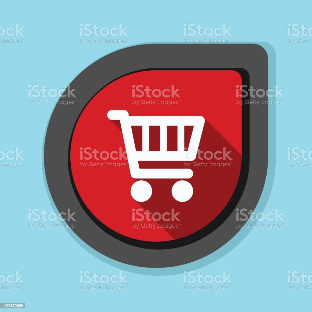 Shopping panier bouton illustration shopping panier bouton illustration – cliparts vectoriels et plus d'images de affaires libre de droits