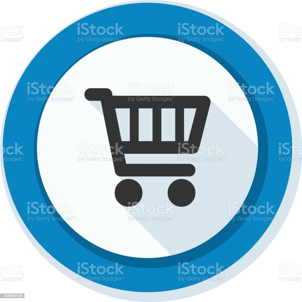 Alışveriş sepeti düğmesini illüstrasyon royalty-free alışveriş sepeti düğmesini illüstrasyon stok vektör sanatı & alış'nin daha fazla görseli